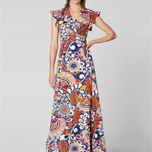 Manila Grace, abito in cotone stampato