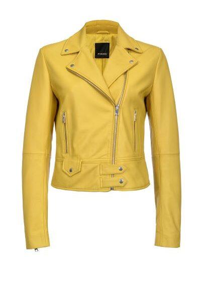 Pinko, giacca biker stile chiodo