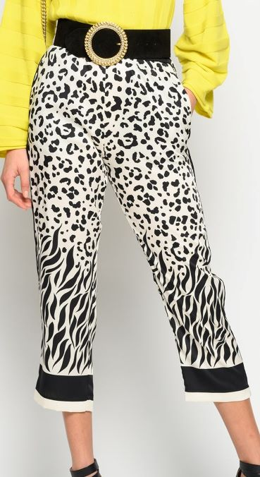 Pinko, pantalone stampa maculata